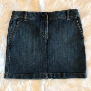 LOFT Denim Mini Skirt EUC